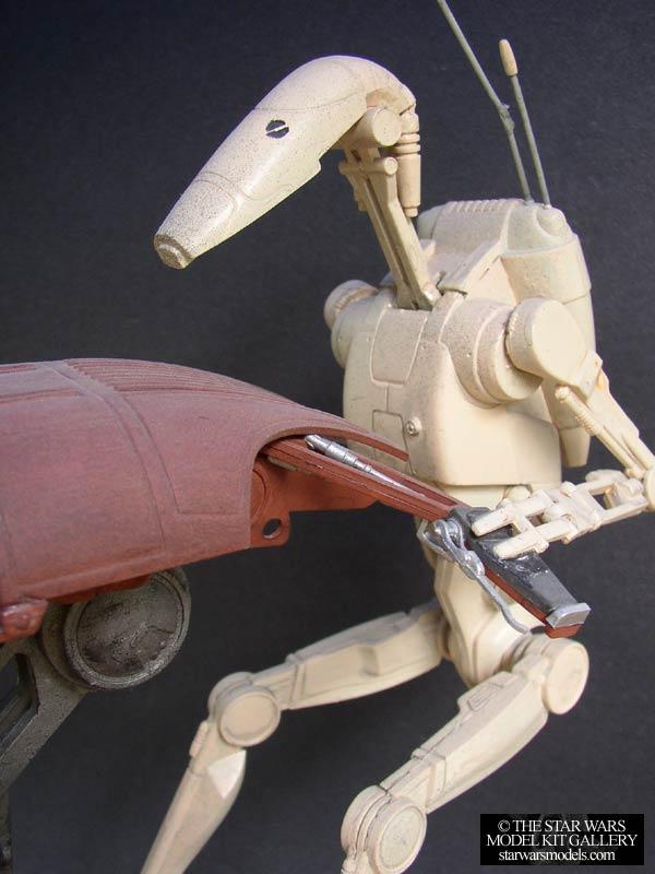 STAP with Battle Droid 1/6 Plastic AMT/ERTL Model Kit